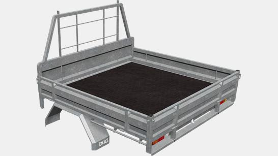 galvanised steel ute deck