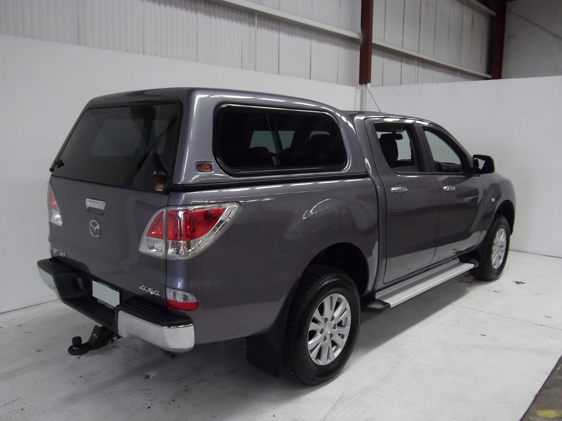 grey mazda bt50 ute with canopy