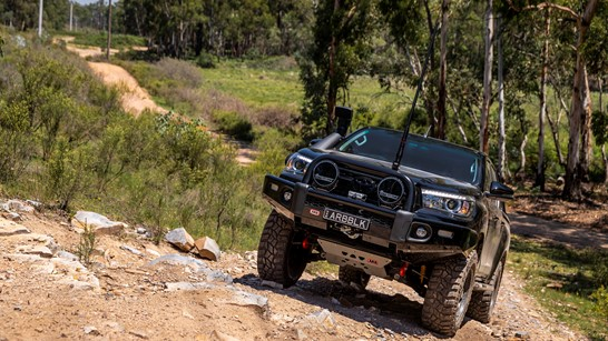 black toyota hilux with arb bull bar