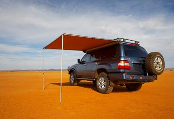 awb awning set up in desert