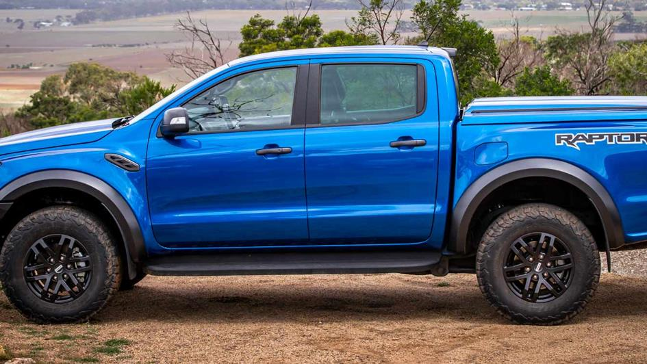 blue ford ranger raptor